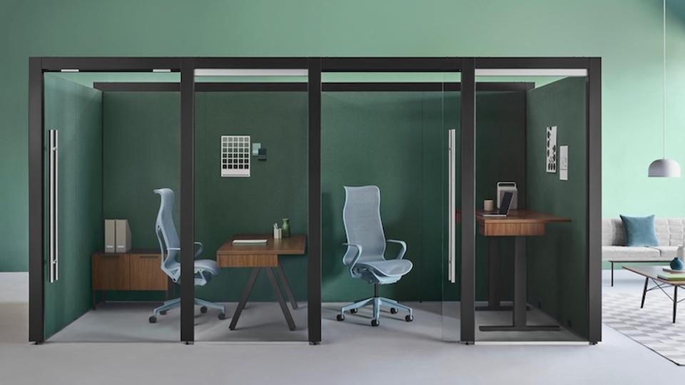 Definición dentro de la oficina abierta
