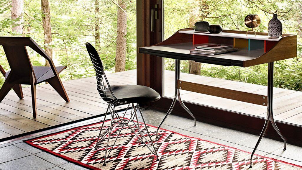 Silla Eames Wire y Escritorio Nelson Swag Leg